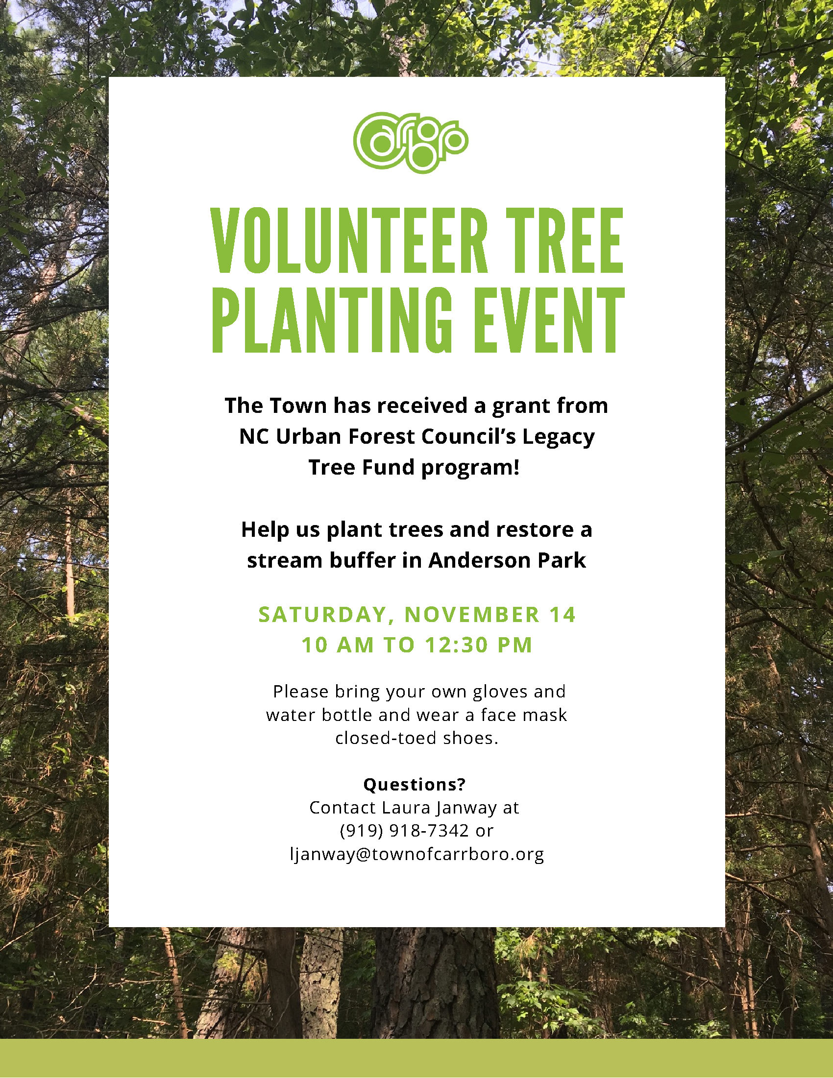Volunteer Tree Planting Event Flyer