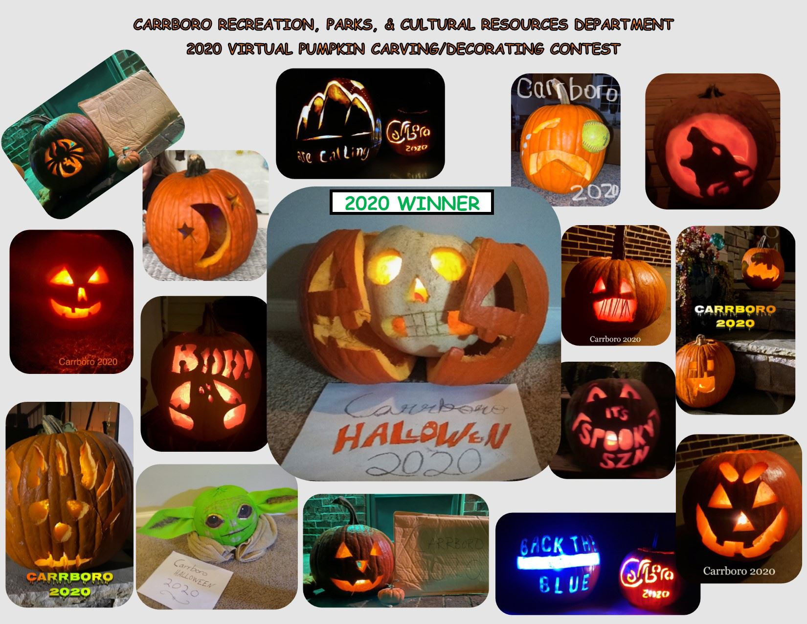 2020 Virtual Pumpkin Contest